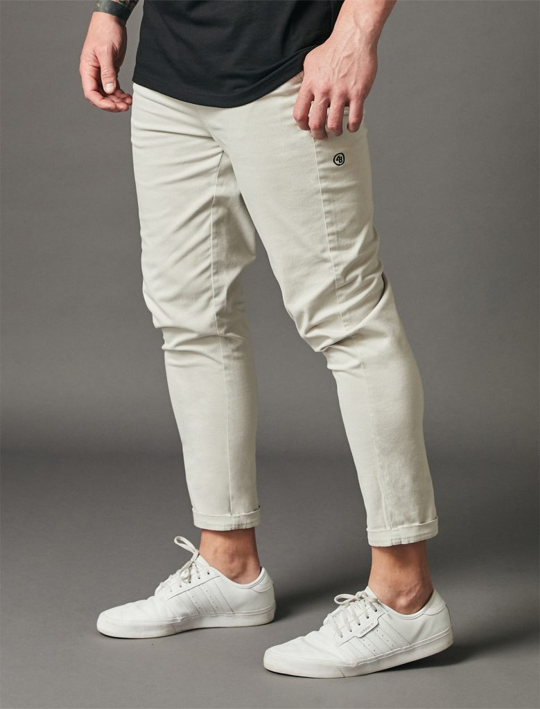 Relaxed Crop Pants Light Grey