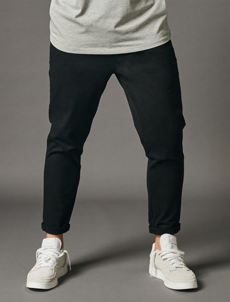 Relaxed Crop Pants Black