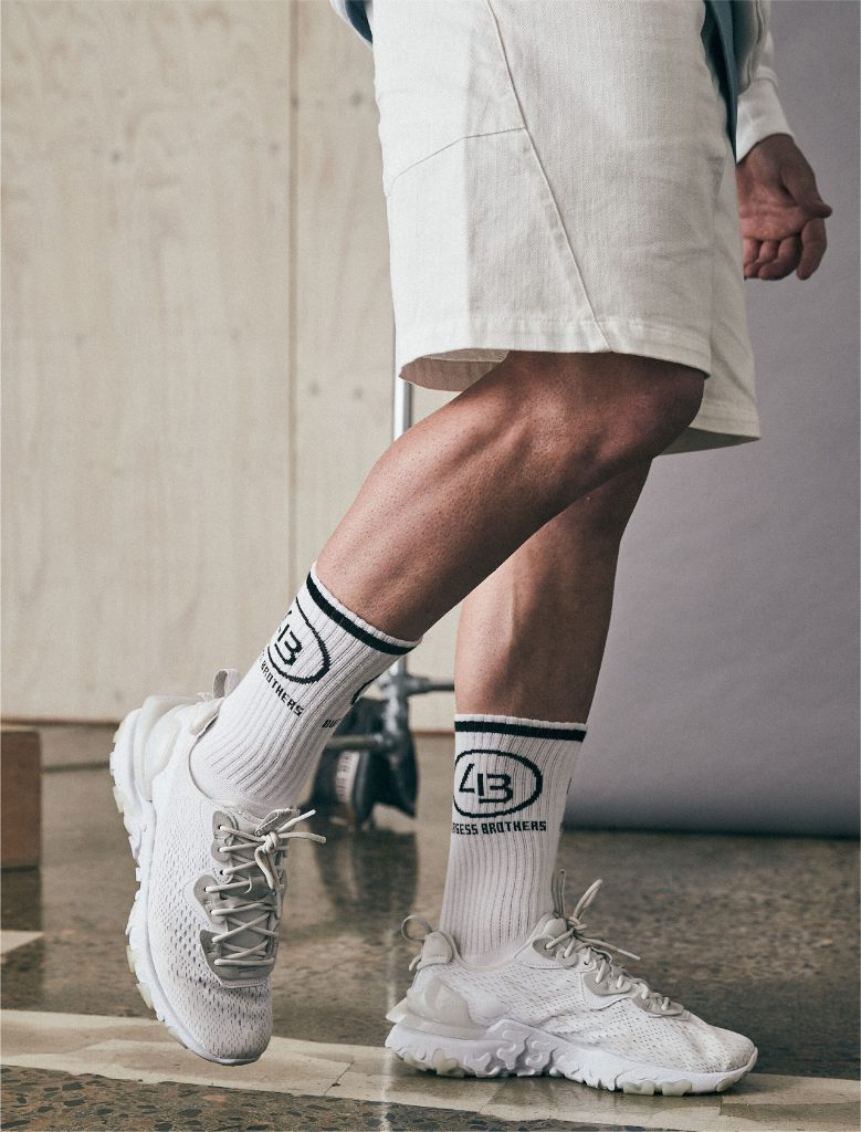 4B Training Socks White